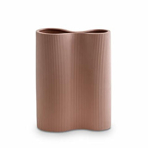Load image into Gallery viewer, RIBBED INFINITY VASE OCHRE MEDIUM