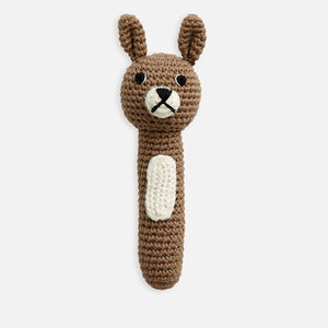 Load image into Gallery viewer, Miann & Co Hand Rattle Almond Bunny
