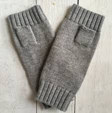 Hands UP! Pure Merino Wool Fingerless Glove - Grey