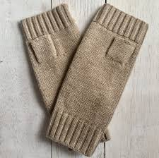 Load image into Gallery viewer, Hands UP! Pure Merino Wool Fingerless Glove - Biscuit