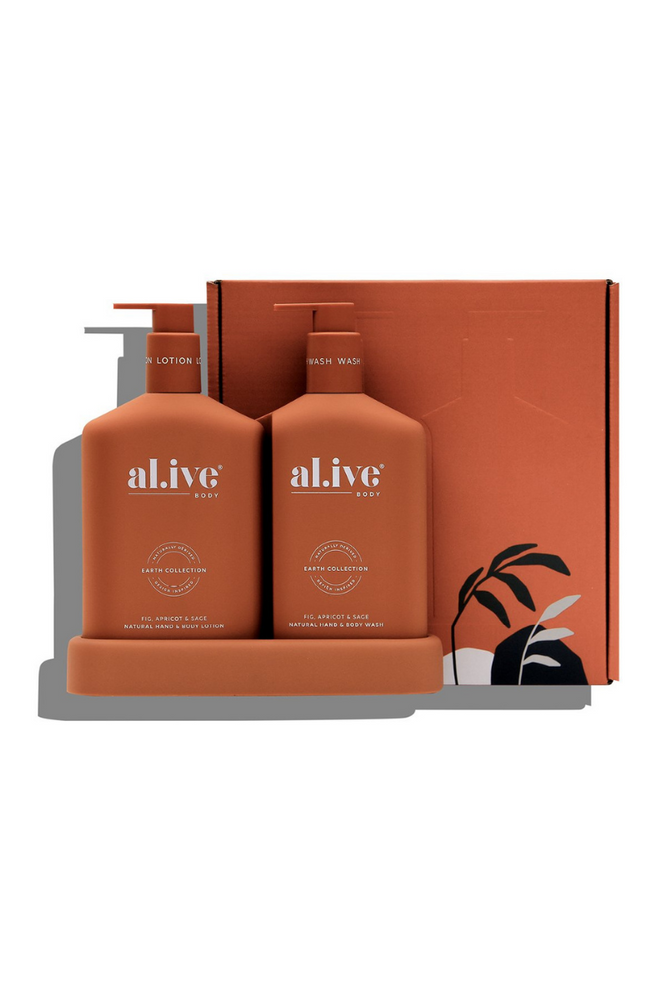 Wash & Lotion Duo + Tray Fig, Apricot & Sage