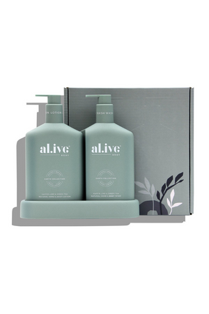 Wash & Lotion Duo + Tray Kaffir Lime & Green Tea