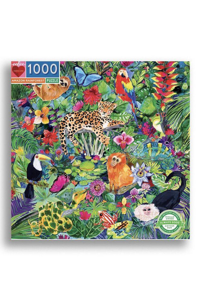 Eeboo 1000 Piece Puzzle - Amazon Rainforest