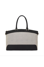 Bronte Overnight Bag - Black with Canvas