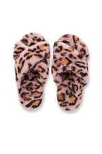 PINK CHEETAH ADULT SLIPPERS