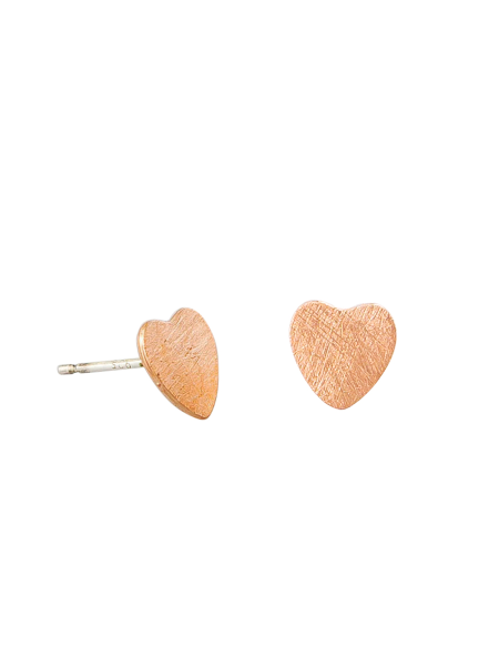 Rose Gold Heart Stud Tiger Tree