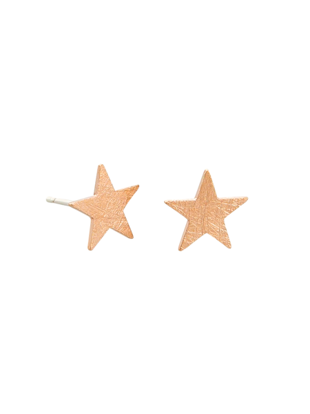Load image into Gallery viewer, Rose Gold Star Stud Tiger Tree