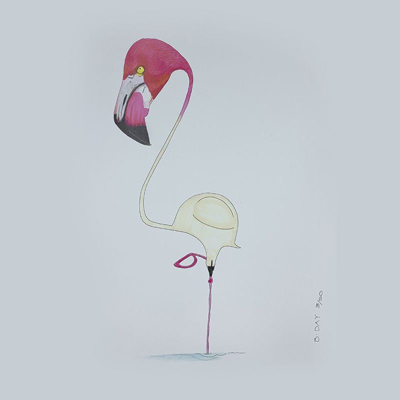 Sunday Love Wall Art -FLAMINGO