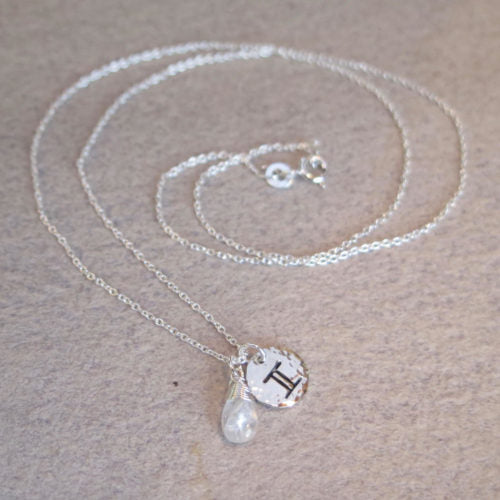 Load image into Gallery viewer, Made by Byron Bay zodiac necklace Gemini