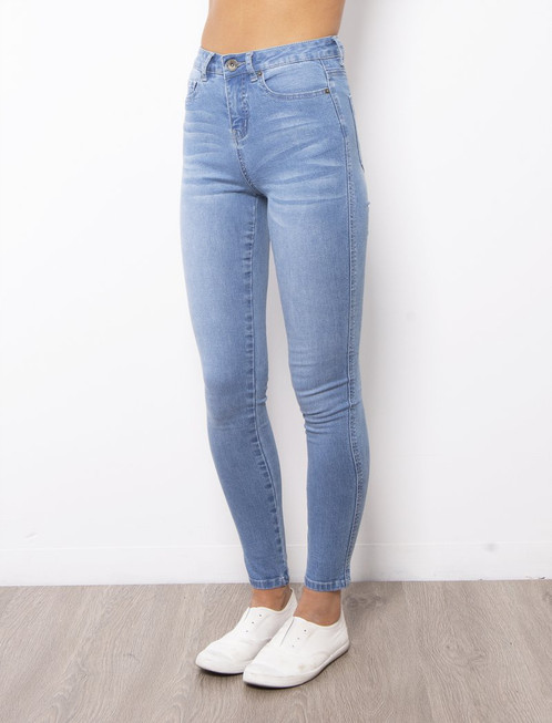 Khloe High Rise Mid Blue Jeans