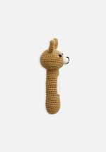 Miann & Co Hand Rattle Latte Bunny