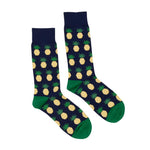 Navy Pineapples Socks