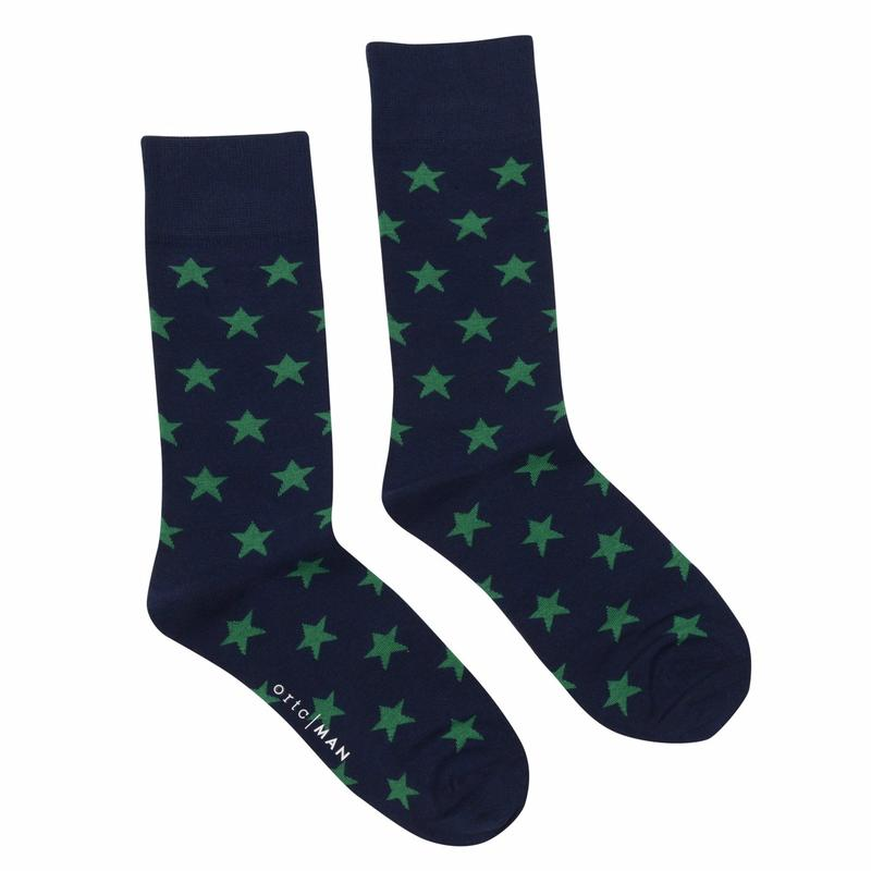 Load image into Gallery viewer, Green Stars Socks