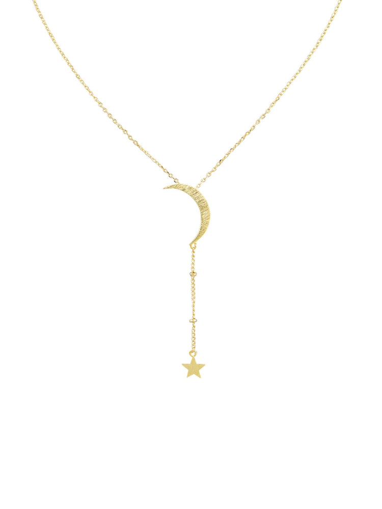 Tiger Tree - Necklace - Gold Hanging Star