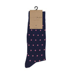 Navy and Pink Stripe Socks