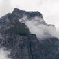 Cloudy Swiss Mountains Cliffs and Glaciers