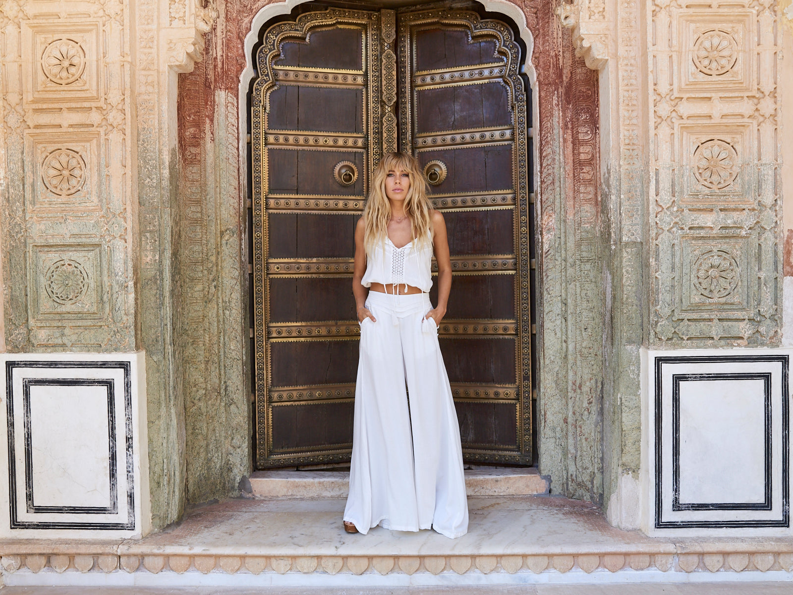 Kivari Shiva Collection Jasmine Palazzo Pants Rani Singlet