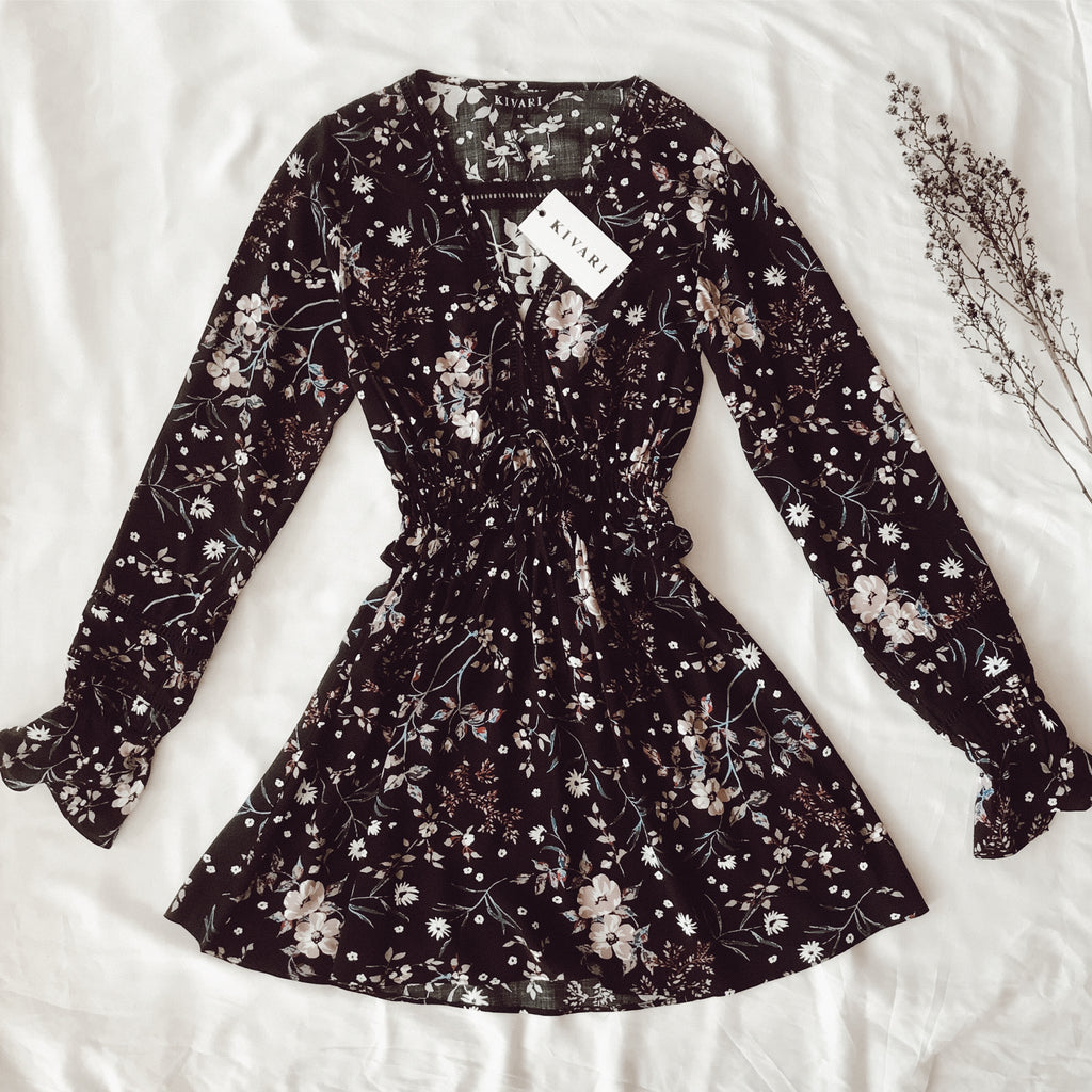 Willow Floral L/S Mini Dress