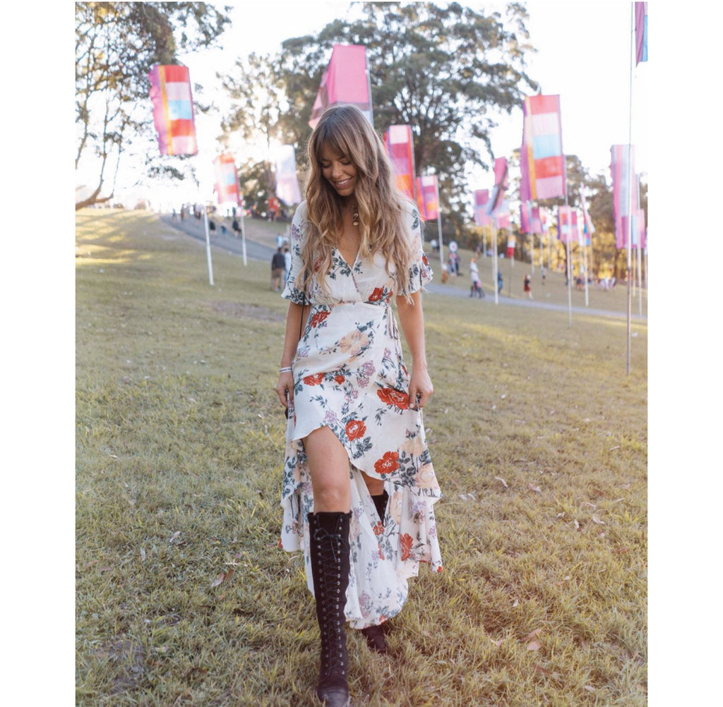 Christina Macpherson in our Harper Bloom Maxi Dress