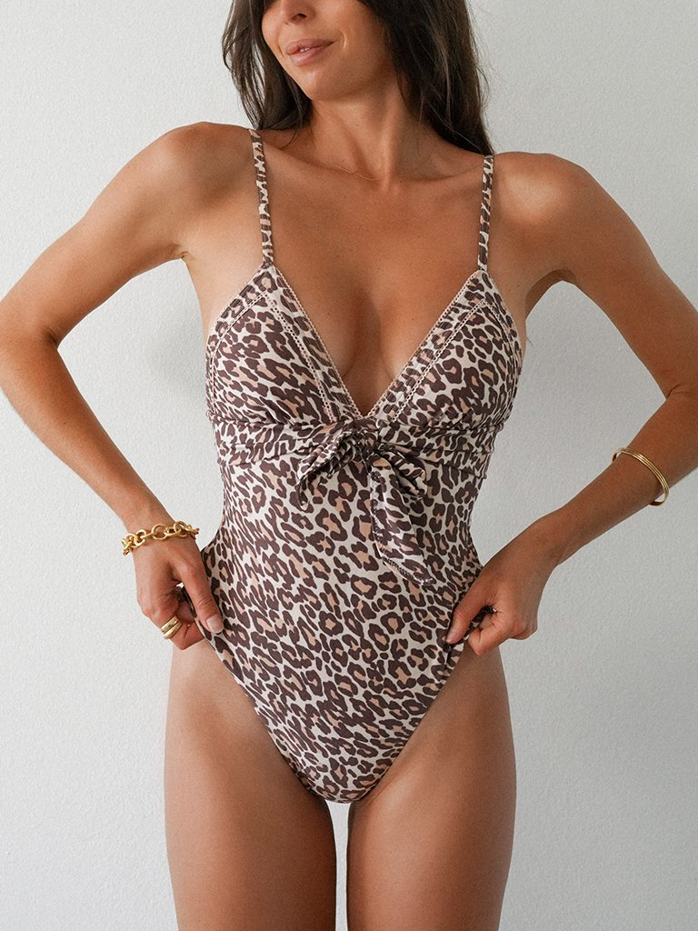Alena Leopard One Piece