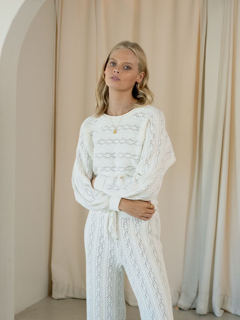 Ava Knit Jumper Ivory