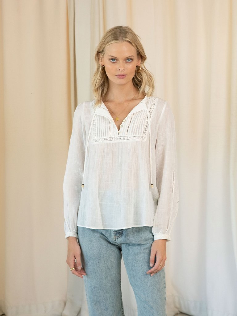 Dixie Lace Blouse White