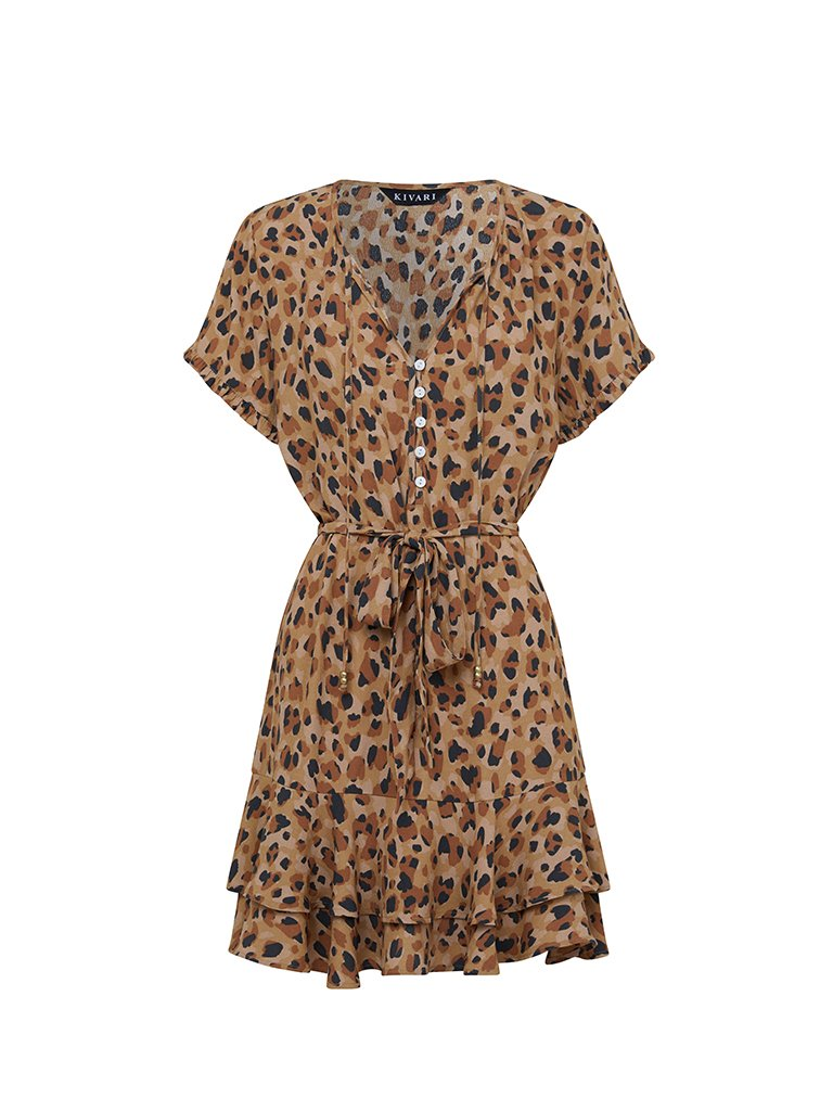 Nomade' Leopard Mini Dress