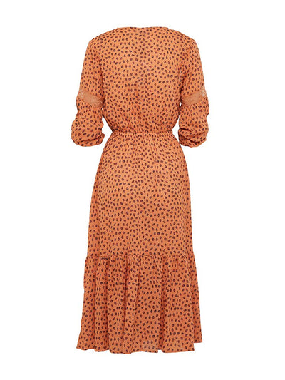 Stella Leopard Lace Midi Dress