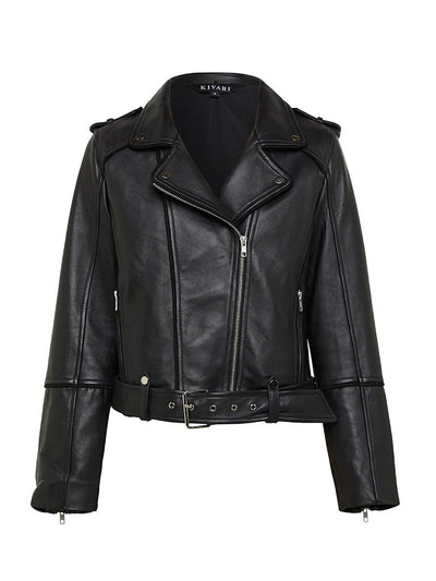 Kingsley Classic Biker Leather Jacket - Final Sale