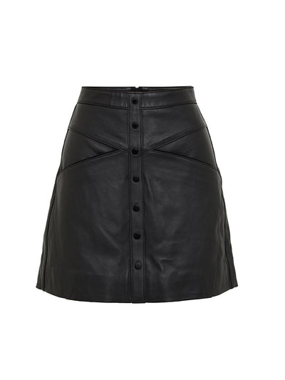 Macie Leather Skirt