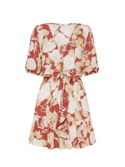 Zanthe Floral Tie Front Mini Dress