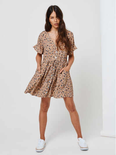 Nomade' Leopard Baby Doll Dress