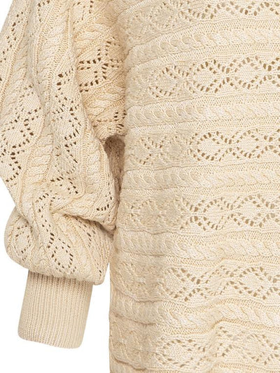 Mia Knitted Top - Oatmeal