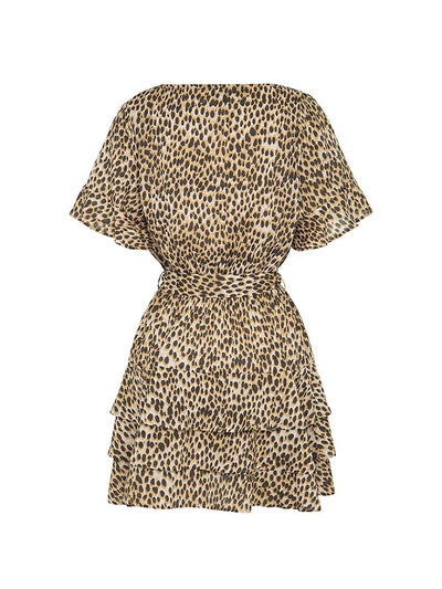 Billie Leopard Cotton Mini Dress