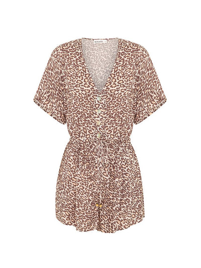 Alena Leopard Playsuit