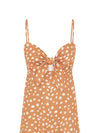 Nora Polka Linen Strappy Mini Dress