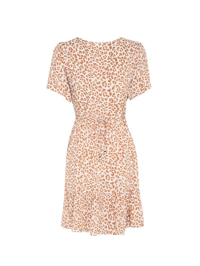Zion Leopard Babydoll Mini Dress - Final Sale