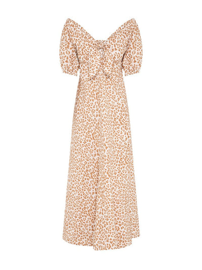 Zion Leopard Linen Maxi Dress