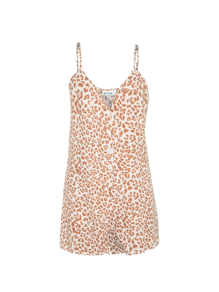 Zion Leopard Playsuit