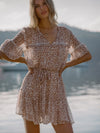Zion Leopard Georgette Mini Dress - PRE ORDER