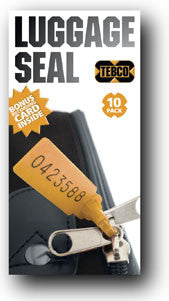 Luggage Seals pack 10 or 20 Orange - BagMasters Australia