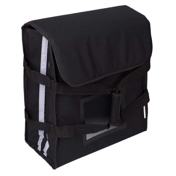 3 Box Pizza Bag (black with reflector tape)  Australian Made - BagMasters