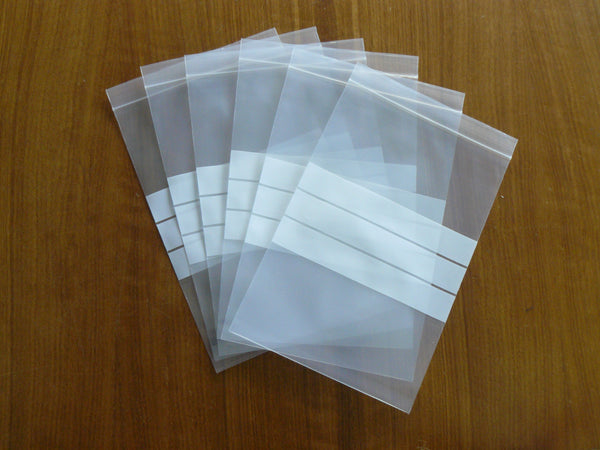 Press Seal Bags with Write on Panel - 50micron