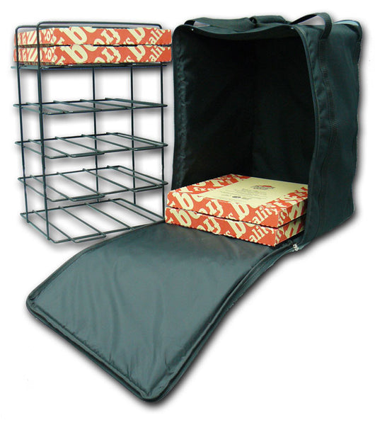 Medium 10 Box Pizza Bag and Rack - BagMasters