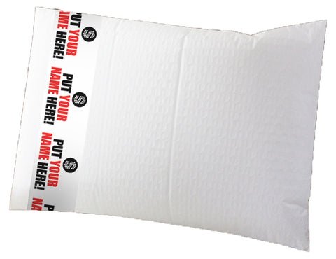 Padded Mailer with Banner (White - end opening)