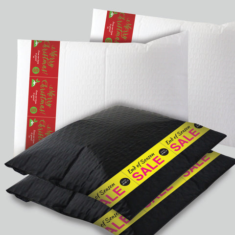 Black Padded Mailer - with customised banners