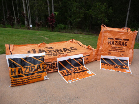 Hazardous Materials bags - Multiple Sizes