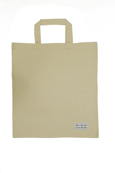 Calico/Cotton Shopping Bags 38cm x 42cm, 35cm handle (Price per 250) - BagMasters Australia