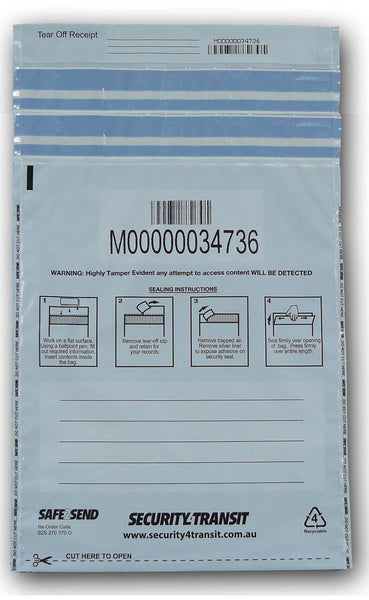 Tamper Evident Bag - Double use - BagMasters Australia