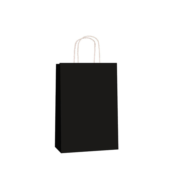 Black Kraft w/twist handle  (price per 250) - BagMasters Australia